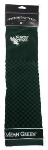 North Texas Mean Green Embroidered Golf Towel
